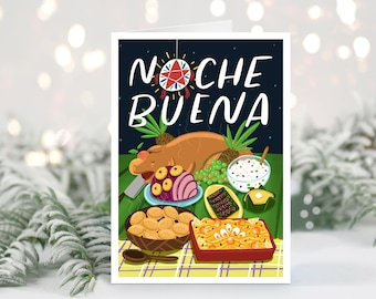 Noche Buena Greeting Card | Pasko | Night time | Philippines | 5 x 7