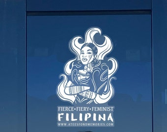 Element of Fire Filipina Car Decal