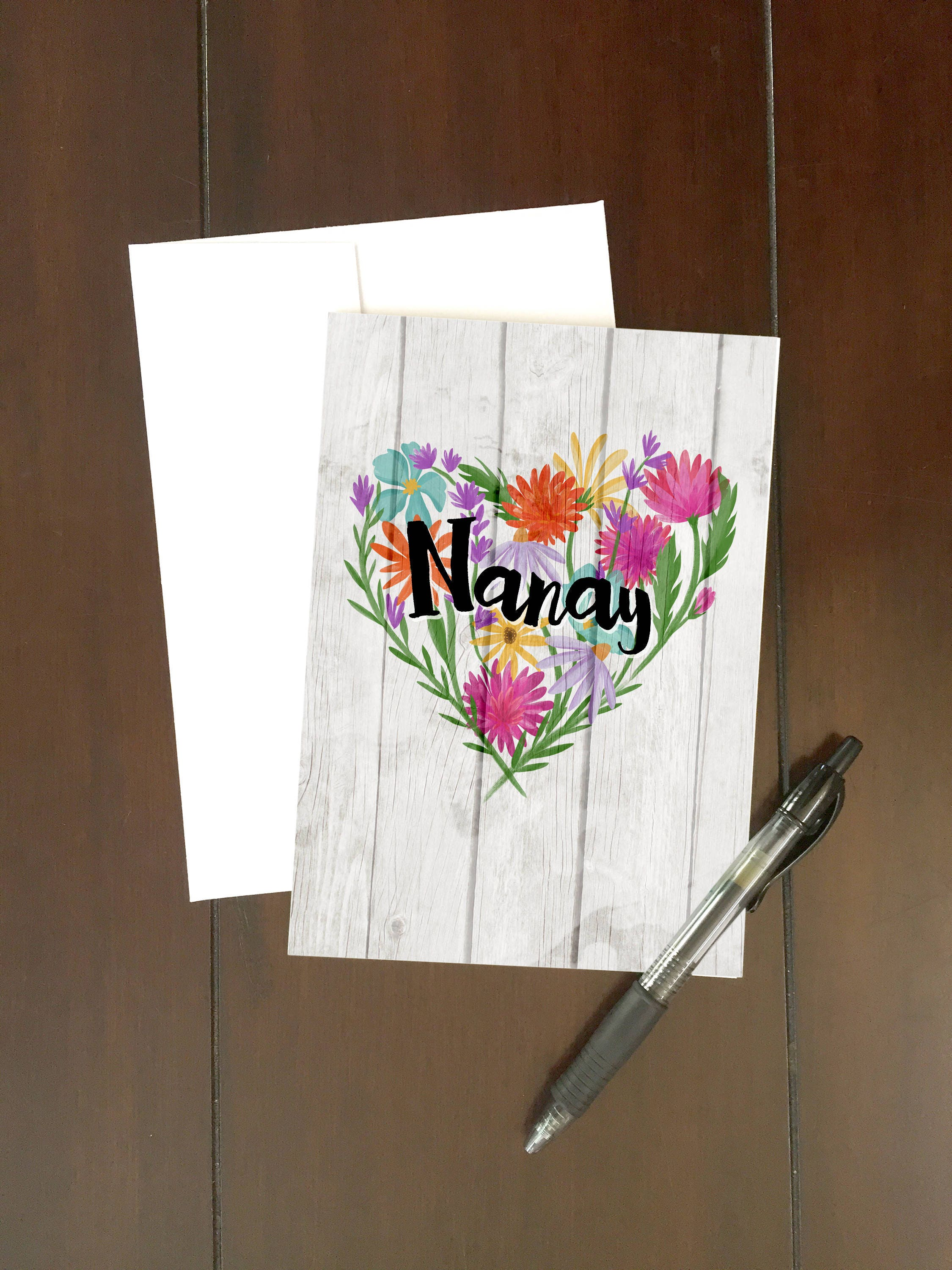 Nanay Card Mothers Daybirthday Tagalog Message Wild Etsy