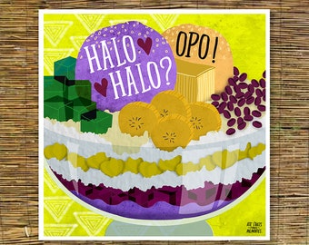 Halo Halo Food Art