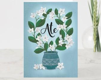 BIRTHDAY | Ate with Sampaguitas Greeting Card