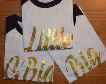 Little, Big, GBig Jersey with Contrast Sleeves and Gold Foil Design