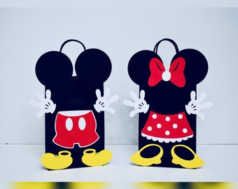 Mickey Party Bags 12 Minnie Birthday Mouse Favor