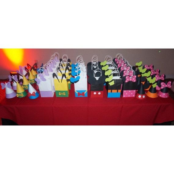 Sombreros y bolsos de fiesta de cumpleaños de Mickey Bolsos  de92ad6de7b