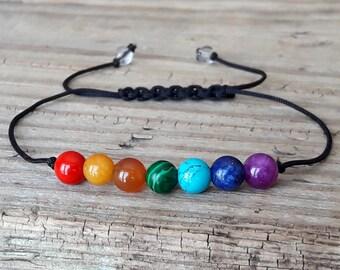 Chakra bracelet yoga bracelet seven chakra bracelet gemstone therapy healing meditation bracelet energy bracelet power bracelet wrist mala