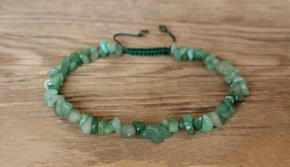 Emerald Chips Bracelet Gemstone Bracelet Chip Bracelet Unisex Fit 7.5 inches