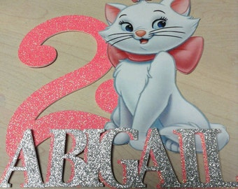 Marie Aristocats Personalized Cake Topper/Centerpiece