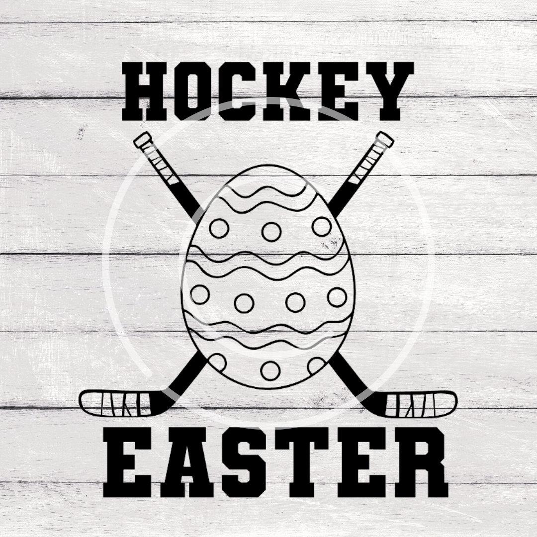 Easter Bunny Svg Hockey Mom Svg Goalie Svg Cricut File Hockey SVG Easter SVG Instant Download Silhouette File Peep SVG Bunny Svg