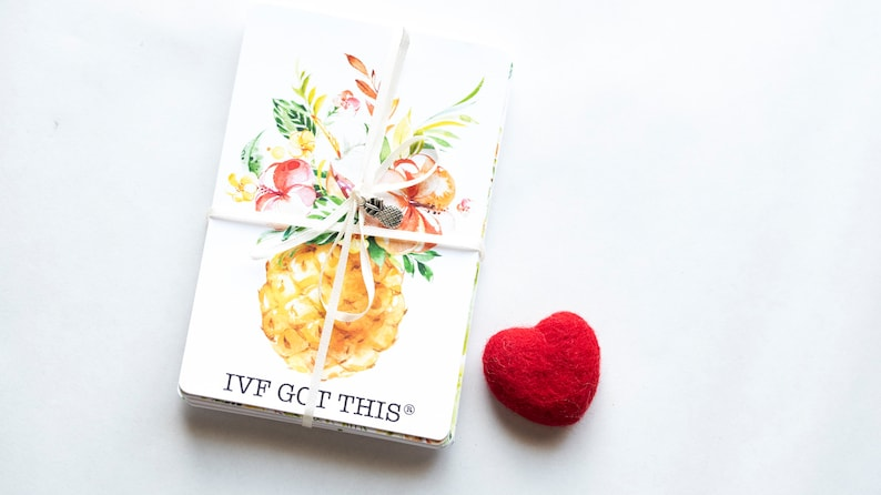 IVF Got This® 25 milestone cards and socks ivf gift ivf baby image 0