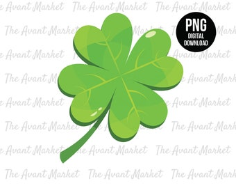 Clover PNG Irish 4 leaf clover St Patrick's sublimation instant digital download graphic clip art scrapbooking