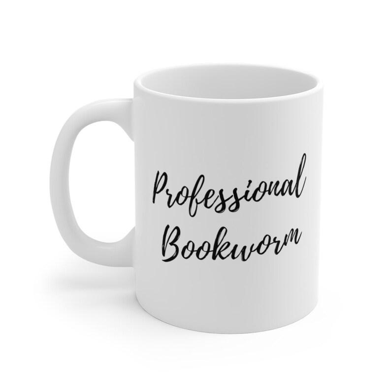 Professional Bookworm Coffee Mug  Book Worm Reading Author image 0