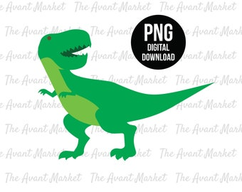 T-Rex dinosaur PNG Tyrannosaurus T Rex Trex sublimation instant digital download graphic clip art birthday baby shower scrapbooking
