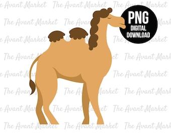 Camel PNG Desert Safari Jungle sublimation instant digital download graphic clip art zoo animal birthday baby shower scrapbooking