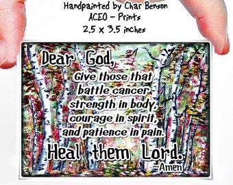Cancer pocket card | Etsy