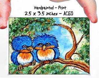 Gift for Ostrich Lover Fine Art Print Miniature Art Card Inspirational Art Print Ostrich ACEO PRINT Believe Handpainted by Char Benson