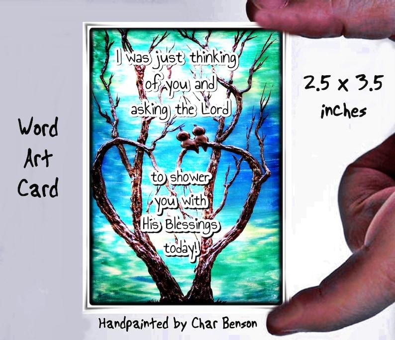 Inspirational word Art ACEO Print Gift for Healing Artist Art Card Healing Prayer Cancer Prayer Gift for Cancer Patient Pocket Prayer