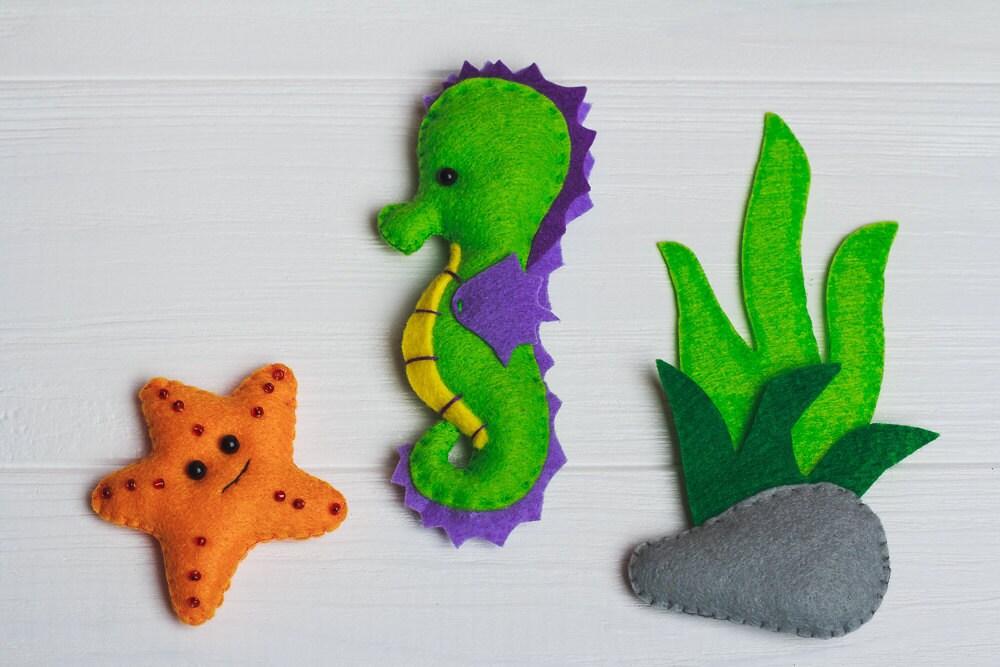 Filz Seepferdchen Spielzeug Ozean Kreaturen Magnete Meer
