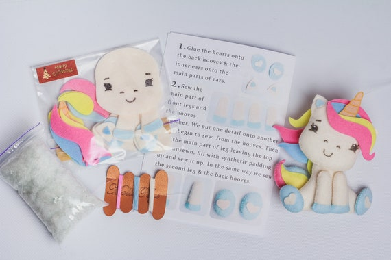 Make Your Own Plush Unicorn Toy Childrens Gift Playset Craft Sewing Kit