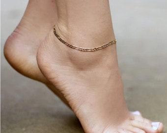 Gold Leaf Anklet Custom Length  Gold fill Anklet  Delicate Anklet  Simple Gold Anklet  Leaf Anklet  Hypoallergenic  Goldfill