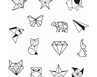 Diamond Tattoo Etsy