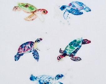 Turtle Tattoo Etsy