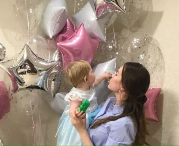 18 Foil Pink Elephant Girl Baby Shower Balloon