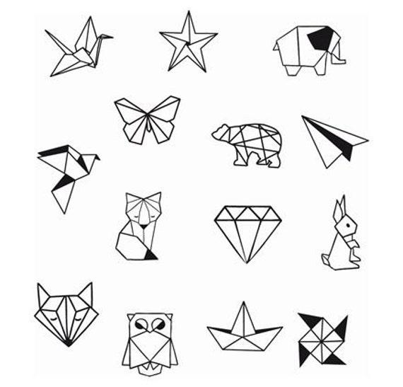 Diamant Animal Geometrique Formes Poignet Cheville Tatouage Etsy