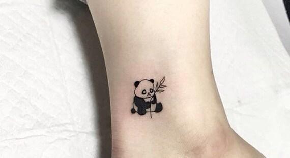 Słodkie Panda Ciała Tymczasowy Tatuaż Biżuteria Tattoo Tatuaż Z Powrotem Tatuaż Ramię Kostki Nadgarstka