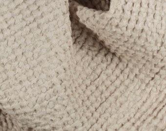 Earth Tone Waffle Linen Baby Blanket, Waffle Linen Receiving Blanket, Tan Waffle Swaddle Blanket, Neutral Nursery, Baby Shower Gift