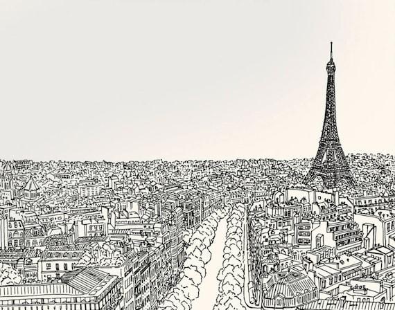 Nursery Paris Map Eiffel Tower Art Paris Map Artwork Chic Etsy