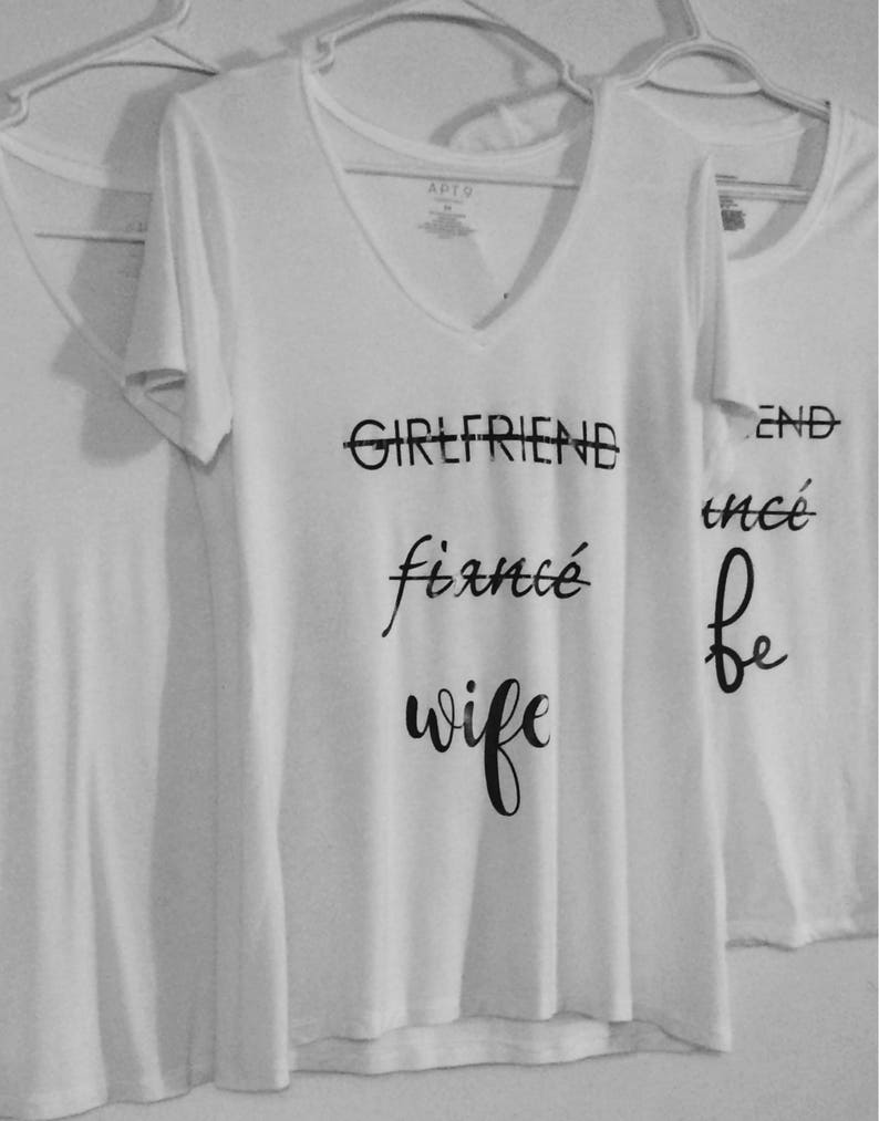 9d09c25b Girlfriend fiancé wife t-shirt   Etsy