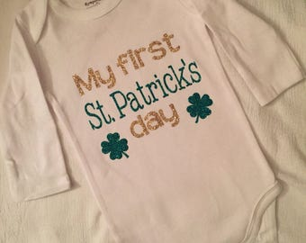 My First St. Patrick's Day Onesie