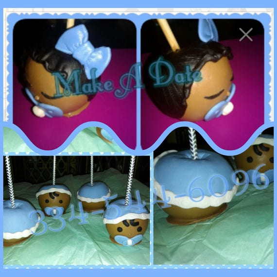 Baby Candy Apples Baby Shower Face Hair Etsy