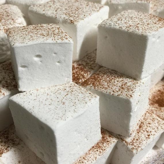 Coquito Gourmet Marshmallows - (Puerto Rican eggnog) Gourmet Marshmallows  ~ 1 Dozen Gourmet Handcrafted Marshmallows