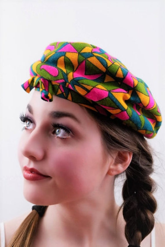 Rare Colorful Psychedelic Pill Hat - Vintage
