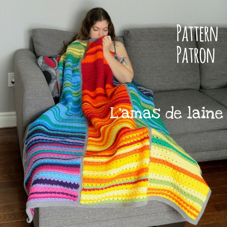 Temperature Blanket Crochet pattern  meteo colourful throw image 0