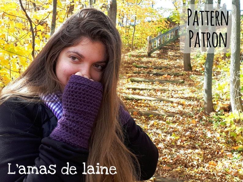 Botanica fingerless mittens crochet pattern  mitts gloves image 0