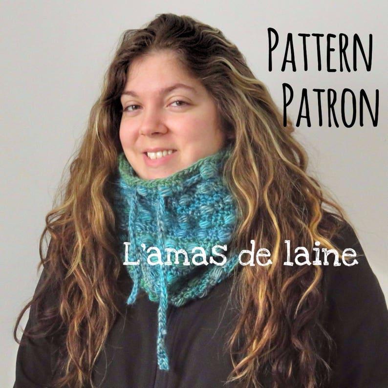 The Mosaic Cowl crochet pattern  neck warmer neckwear image 0