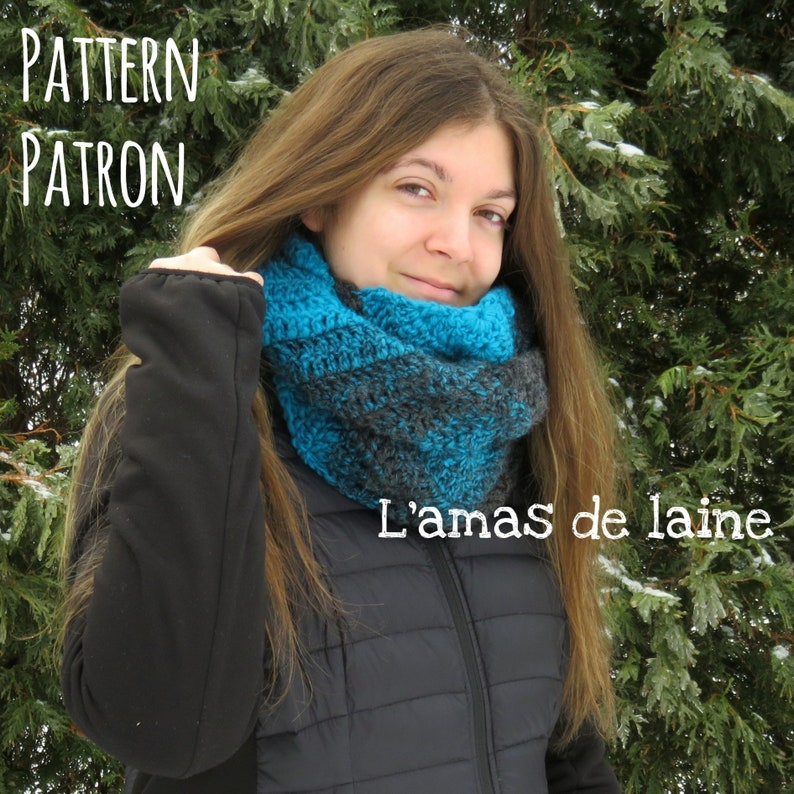 Mystic scarf Crochet pattern  infinity mobius neck warmer image 0