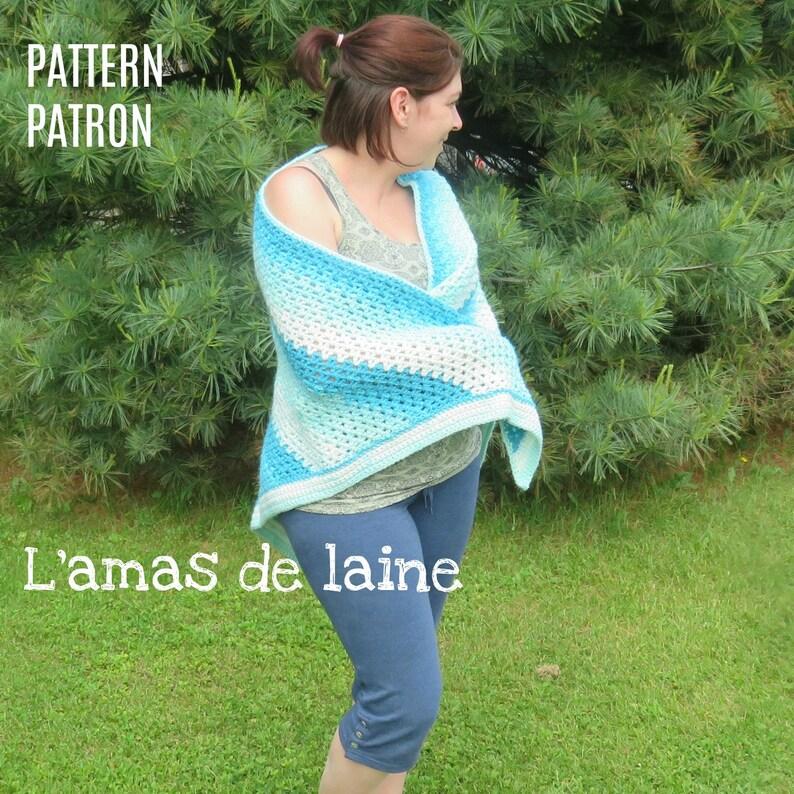 Watercolour Shawl crochet pattern  cape wrap shoulders image 0