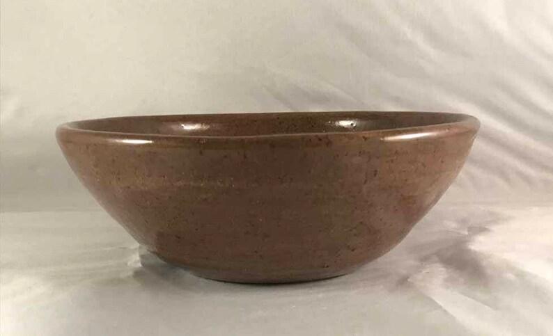 Stoneware Heavy Brown Serving Bowl