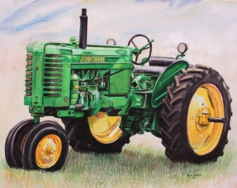 """Embroidered """"Tractor"""" Shirt"""