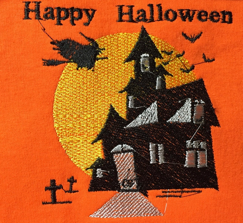 Embroidered Kids  Halloween  Shirt
