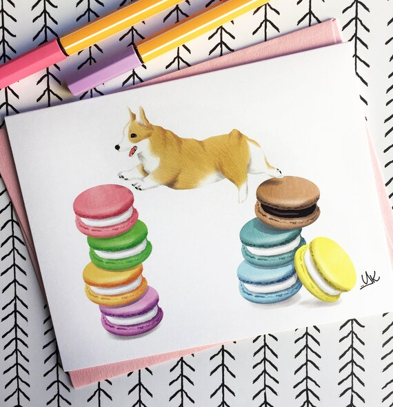 Corgi Card Gift Birthday Cute