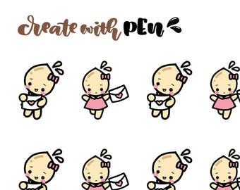 TA171   HAPPY MAIL - V2   Tinta   Planner Stickers