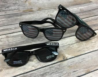 3915b2c0693 American Flag Lense KIDS Personalized Sunglasses