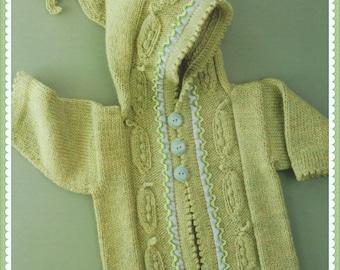 PDF Knitting Pattern Baby Cardigan Pattern Knitting Pattern