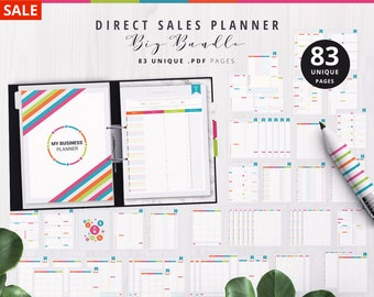 business planner organizer 2017 orders contacts weekly etsy