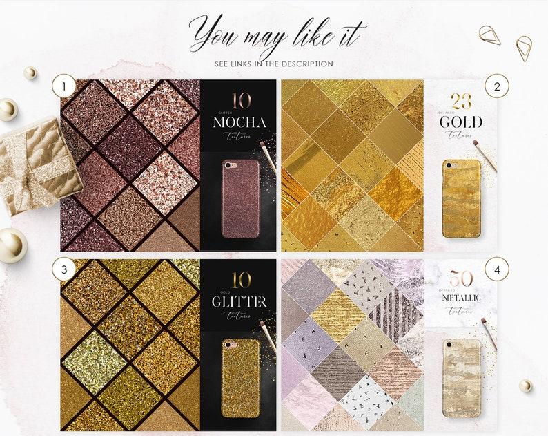 Rose Gold Digital Download 30 Glitter Textures Champagne Glitter Gold Mix Digital Paper Commercial Use OK