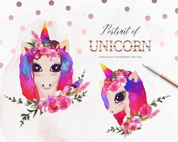 Unicorn Clipart Unicorn Rainbow Unicorn Unicorn Clipart | Etsy